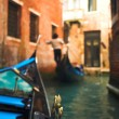 Gondola nose on water — Stock Photo