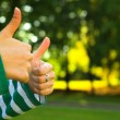 Stock Photo: Thumbs up sign