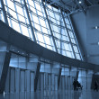 Silhouettes at airport — Stock Photo #1328533