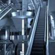 Stock Photo: Free diagonal escalators stairway