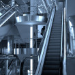 Free diagonal escalators stairway — Stock Photo #1328633