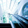 Move escalator in modern office - Stock Photo