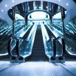 Move escalator in modern office — Stock Photo #1329465