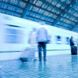 Train on platform in subway — Stock Photo #1329572