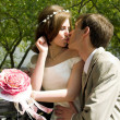 Married couple kiss - Foto de Stock
