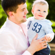 Father and son embrace — Stock Photo #1329594