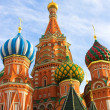 St. Basil's Cathedral on Red square - Stok fotoğraf