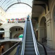 Escalator in shopping center, Moscow - Stok fotoğraf
