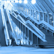 Mooving escalators and stairs - Stok fotoğraf