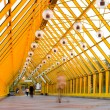 Yellow glass corridor - Stockfoto