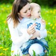 Baby boy with mother play — Stock Photo #1329704
