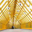 Yellow glass corridor — Stock Photo #1329812