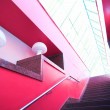 Stock Photo: Red interior stair