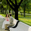 Married couple on branch — Foto de stock #1329891
