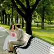 Married couple on the branch — Stock Photo