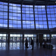 Silhouettes at airport — Stock Photo