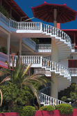Greek house with balconies — Stock Photo