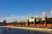 Kremlin wall and Moskva river — Foto Stock