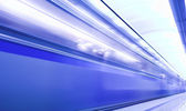 Fast train in subway — Stock Photo