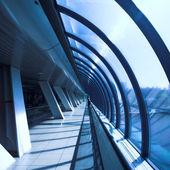 Glass corridor — Stock Photo