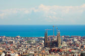 Panorama de la ville de barcelone — Photo