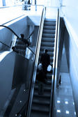 Mooving escalators — Stock Photo