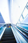 Move escalator in modern office — Stock Photo
