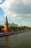 Red wall, Moscow — Stock Photo