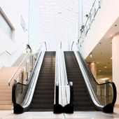 Empty escalator — Stock Photo