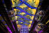 Futuristic hall in mall — Stock Photo