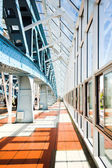 Metal constructions on the bridge — Stock Photo