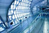 Stairs and panaramic view of hall — Stock Photo