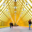Stock Photo: Yellow glass corridor