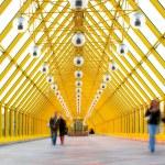 Yellow glass corridor — Stock Photo