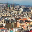 Panorama in Barcelona, Barri Gothic — Stock Photo