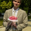 Royalty-Free Stock Photo: Man with the bouquet