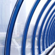 Blue glass corridor — Stock Photo #1330355