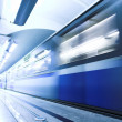 Blue fast train stay at platform — Stock Photo #1330362