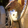 Dragon in Park Guell — Stock Photo