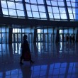 Silhouettes at airport — Stock Photo #1330435