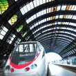Fast train in Milan - Stock Photo