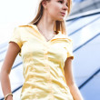 Lady near office — Stock Photo #1330445
