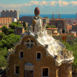 Spice-cake house in Park Guell — ストック写真