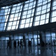 Silhouettes at airport — Stock Photo #1330760