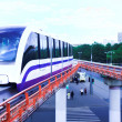 Monorail fast train on railway — Stock Photo