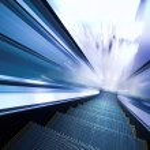 Fast moving escalator — Stock Photo #1330785