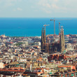 Panorama in Barcelona, — Stockfoto