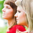 Stockfoto: Two girls in park