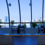 Interior of futuristic building — Stock Photo