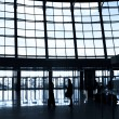 Silhouettes at airport — Stock Photo #1331052